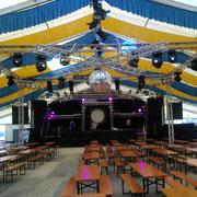 """Die Bühne von unserem Gastspiel beim """"30J. Moskitos & 20J. AMC Fest in Hamberg, Juli 2010"""