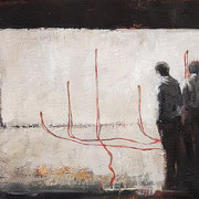 Conectados 2018- Óleo sobre tela - 60 x 25 cm