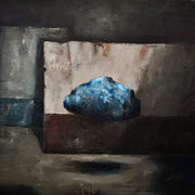Blue rock - 2020  óleo sobre tela  - 56 x 50 cm
