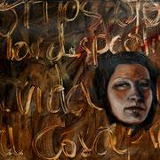 Con los ojos de la despedida - 2017 Óleo s Papel 70 x 50 cm