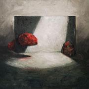 Red rocks - 2020 óleo sobre tela - 56 x 50 cm