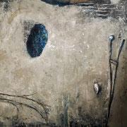 Azul vacío - Blue empty  - Óleo sobre tela 55 x 50 cm