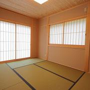 和室の畳は和紙です。