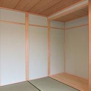 チャフウォールを塗った和室。