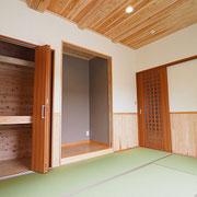 和室は洋風に仕上げています。