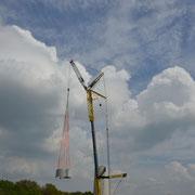 23.o4.2o14 Neubau 3 MW Windrad Haard