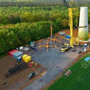 23.o4.2o14 Neubau 3 MW Windrad Haard, Luftaufnahme Helmut Adler