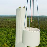 o5.o5.2o14 Neubau 3 MW Windrad Haard, Luftaufnahme Helmut Adler