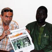 Mit dem Reporter Assane Kone