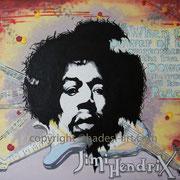 """Jimi Hendrix""...Acryl auf Holz 2012"