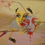 """""""MaskeFrau""""...Acryl auf Holz 2011"""