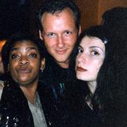Mit Angela Brown (links) in Kroatien, 1995? 96?