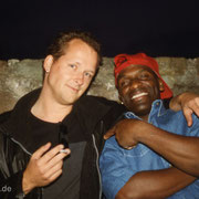 Mit Posaunist Eddie Bo Pariss aus New Orleans