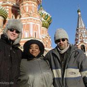 Mit Angela Brown und Roman Klöcker in Moskau