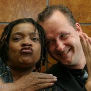 """Mit Angela Brown, Foto-Shooting für die CD """"Wings Of Blues""""."""