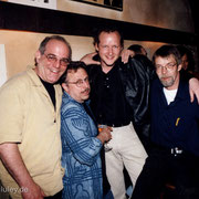 Die Band, die nie einen richtigen Gig spielte, aber hammergeil war. Harvey Sorgen, Joe Fonda, me and Roman Klöcker.