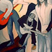 Rockmusik. Öl auf Leinwand 100 x 120 cm