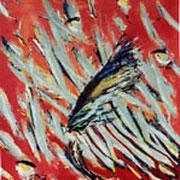 Gegen den Strom II.  Acryl auf Leinwand 70 x 80 cm