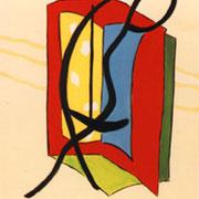 Die Cellospielerin. Acryl 100 x 120 cm