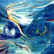 Walpurgisnacht. Öl auf Leinwand 100 x 80 cm - unverkäuflich