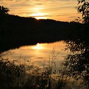 Sonnenuntergang am Breitenbacher See