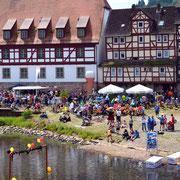 Sautrogrennen auf der Fulda