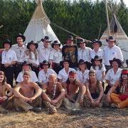 Juillet 2009 - Rencontre étonnante entre cowboys et indiens