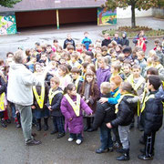 Remise des gilets fluorescents - Vendredi 23 octobre 2009