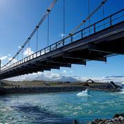 Brücke über die Jökulsárlón Glacier Lagoon (Island)