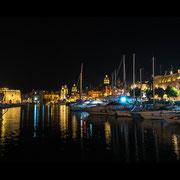 Malta - Hafen von Bormla by night
