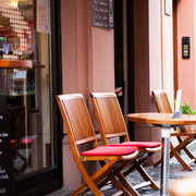 Cafe Stivale Mainz / Stühle geschliffen geölt