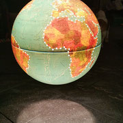Großer Globus Lampe , upcycling, 59€