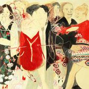 Tango Cadena, 110 cm x 180 cm, Mischtechnik auf Nessel, 2.444 €