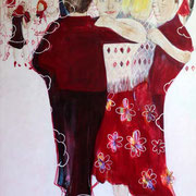 Tango del Cielo, 125 cm x 100 cm, Mischtechnik auf Nessel, 1.555 €