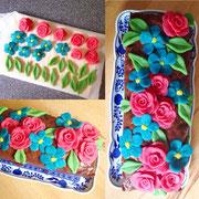 Den Kuchen meiner Lieblingsmonster dekoriert