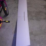 Les ailles sont assemblées sur une clé d'aile en CTP 5 mm