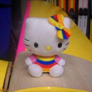 Hello Kitty, quand à elle, a choisi le Baron jaune et rose