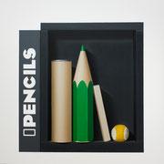 Pencils III. Óleo/ lienzo ( 81 x 81 cm ) 2016