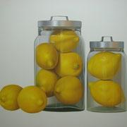 Limones. Óleo/ lienzo ( 130 x 150 cm ) 2007