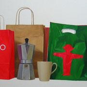 Consumibles V. Óleo/ lienzo  ( 60 x 200 cm )