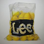 Lee-mones. Óleo/ lienzo ( 130 x 130 cm ) 2008