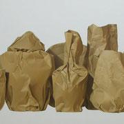 El ultimo viaje. Óleo/ lienzo ( 60 x 200 cm ) 2010