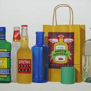 Santa botella. Óleo/ lienzo ( 60 x 100 cm ) 2009