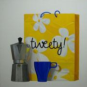 Tweety. Óleo/ lienzo ( 100 x 100 cm ) 2006
