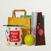 Paint my Love. Óleo/ lienzo ( 50 x 50 cm ) 2009
