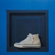 Soledad al cuadrado. Óleo/ lienzo ( 81 x 81 cm ) 2015