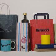 Pirelli. Óleo/ lienzo ( 60 x 150 cm ) 2011