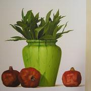 Laurel granado. Óleo/ lienzo ( 100 x 100 cm ) 2005