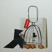 Paloma negra. Óleo/ lienzo ( 81 x 81 cm ) 2009