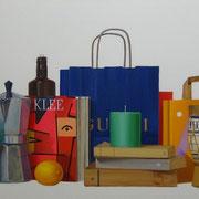 Regalos para Klee. Óleo/ lienzo ( 60 x 150 cm ) 2006